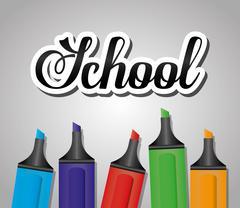 Back to school season - stock illustration