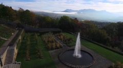 Aerial of beautiful fountain Stock Footage