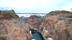 The Bridge by the Hoover Dam Stock Footage