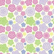 Summer meadow seamless pattern Stock Illustration