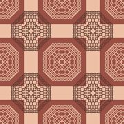 tribal abstract seamless pattern - stock illustration