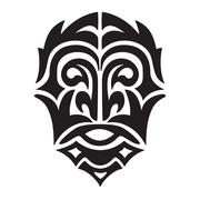 man head tribal vector - stock illustration