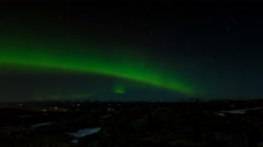 Bjoergvin | Aurora over the Mountains - II Stock Footage