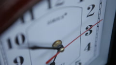 Office, home, or school wall clock, close-up Stock Footage
