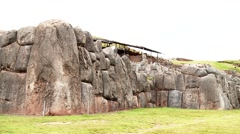 Inca city Sacsayhuaman in Peru Stock Footage