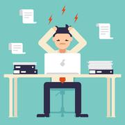 A lot of work. Stress at work Stock Illustration
