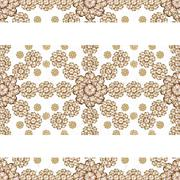 Stationery Background with Floral Borders - stock illustration