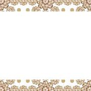 Stationery Background with Floral Borders Stock Illustration