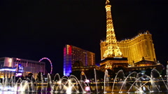 Paris Las Vegas hotel and Casino sign in Las Vegas Stock Footage