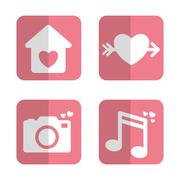 Relationship, wedding and love design - stock illustration