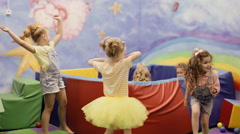 girl dancing in the playroom - stock footage