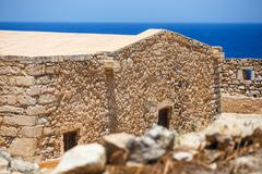 Venetian fortress Fortezza in Rethymno on Crete, Greece Stock Photos