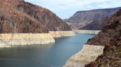 Hoover dam and Lake Mead in Las Vegas area - stock footage