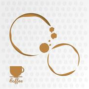 Coffee drink shop design Stock Illustration