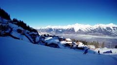 Ski resort french alps Stock Footage