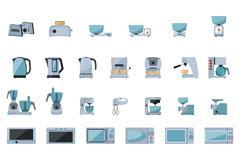 Set of kitchen appliances Stock Illustration
