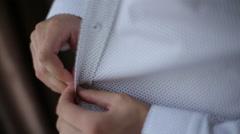 Businessman dress shirt Stock Footage