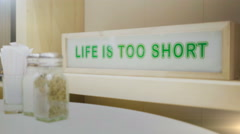 Life Is Too Short. Stock Footage