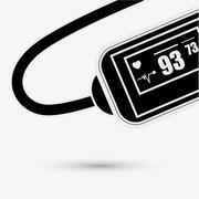 Wearable technology design. Gadget icon. Flat illustration, vector - stock illustration