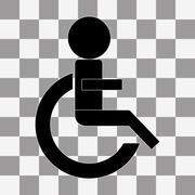 Wheelchair Handicap Icon. vector on a transparent - stock illustration
