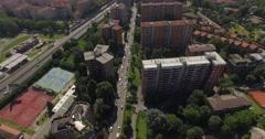 MILAN, QT8 Social Housing Blocks, Aerial Footage - Riprese Aeree, 4K Stock Footage
