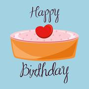 Birthday cake desserts Stock Illustration