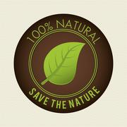Save nature ecology label - stock illustration