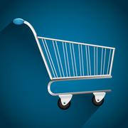 Shopping and ecommerce graphic design with icons - stock illustration