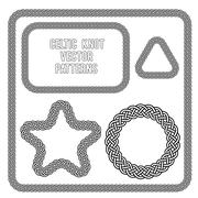 Celtic knot vector patterns Stock Illustration