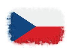 Czech flag symbol halftone - stock illustration