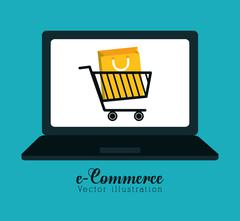 Shopping and ecommerce graphic design Stock Illustration