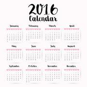 New year calendar schedule Stock Illustration