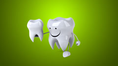 Fun tooth - Computer animation Stock Footage