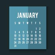 New year calendar schedule - stock illustration