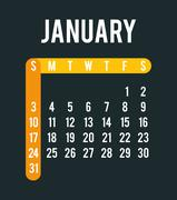 New year calendar schedule - stock illustration