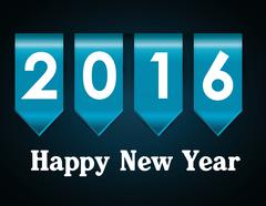 Happy new year graphic - stock illustration