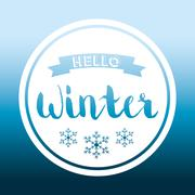 Winte time and snow - stock illustration