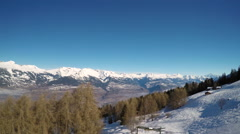 View of Ski resort french alps Stock Footage
