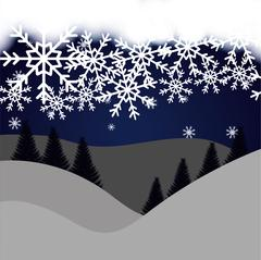 Winte time and snow Stock Illustration