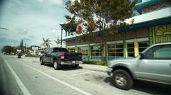 Miami Street Art Shot From Car - stock footage