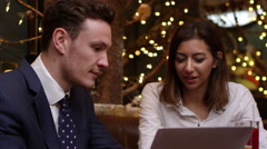 Business Colleagues Meeting After Work Shot On R3D Stock Footage