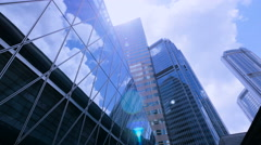 Office building with sun flare reflection. - stock footage