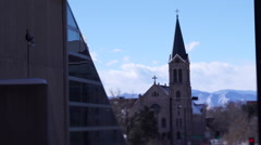 Denver Church Tilt Shift Stock Footage