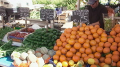 Market editorial fruit stand colorful Stock Footage