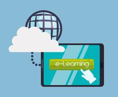 Education online or elearning - stock illustration