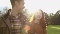 Romantic Afternoon Walk Stock Footage