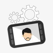 Communication design. Media icon. Flat illustration, vector grap - stock illustration
