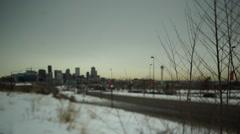 Denver Highway Tilt Shift Stock Footage