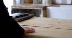 Man In Coffee Shop Using Contactless Payment Shot On R3D Stock Footage