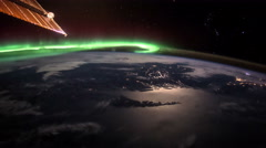 Planet Earth seen from the ISS. Elements of this video furnished by NASA. Stock Footage
